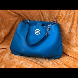 Turquoise Michael Kors Tote Bag